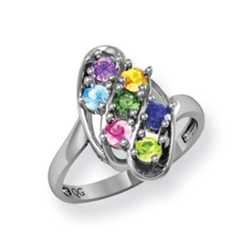 Jewelry Adviser rings Sterling Silver Family Jewelry Ring Size 9 at Sears.com
