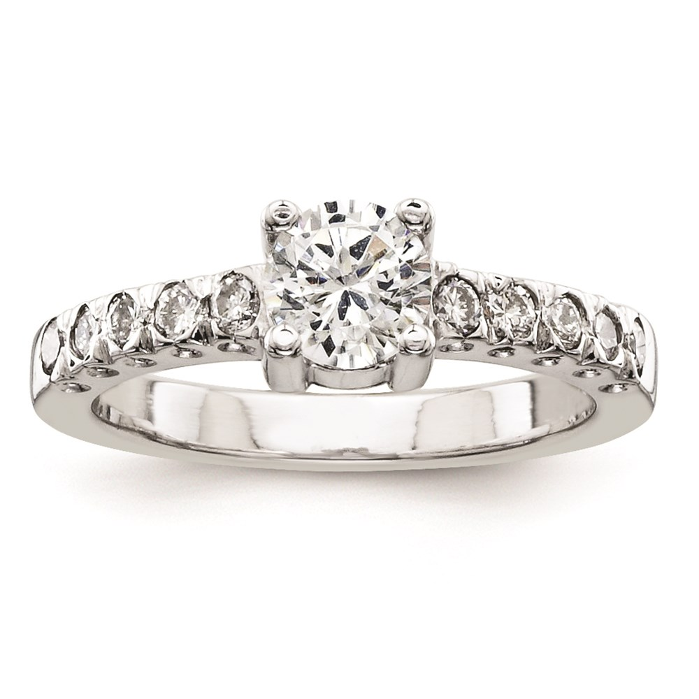 Jewelry Adviser rings 14k White Gold AAA Diamond engagement ring Diamond quality AAA (SI2 clarity, G-I color) at Sears.com