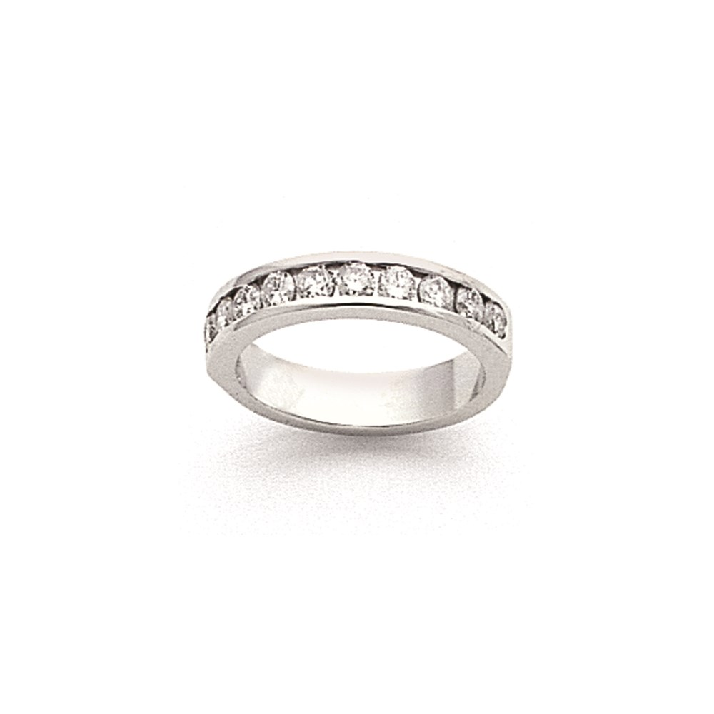 Jewelry Adviser Fashion Ring 14k White Gold AA Diamond Channel Band Diamond quality AA (I1 clarity, G-I color) at Sears.com