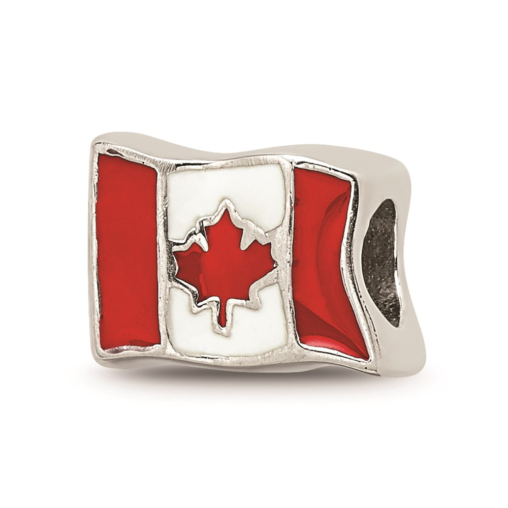 Jewelry Adviser Beads Sterling Silver Reflections Canada Flag Bead at Sears.com