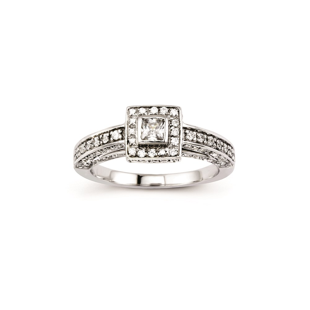 Jewelry Adviser 14K White Gold Diamond Engagement Semi-Mounting at Sears.com
