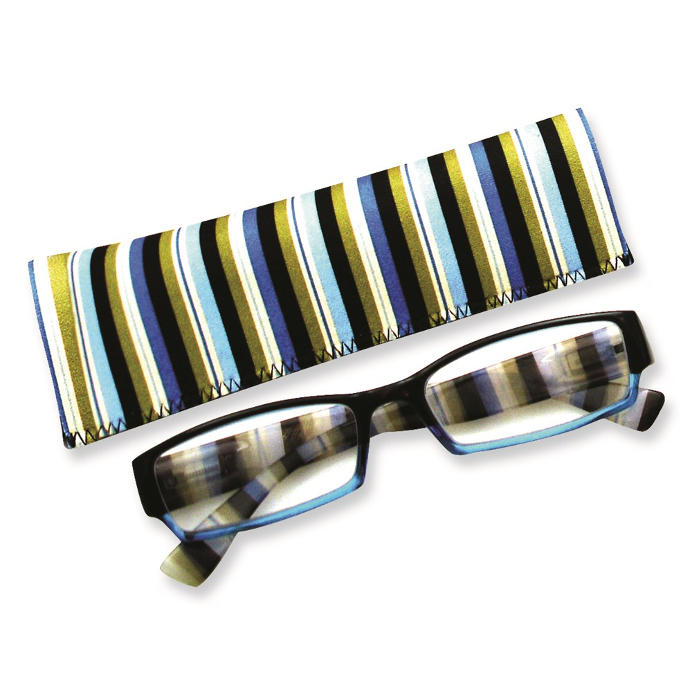 Jewelry Adviser Gifts Multi Colored Stripes 2.75 Magnification Reading Glasses at Sears.com