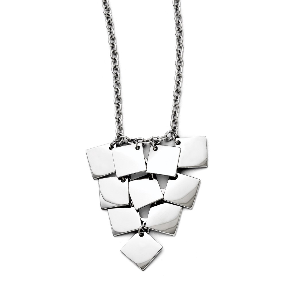 Jewelry Adviser necklaces Stainless Steel Multi-square Polished Necklace at Sears.com