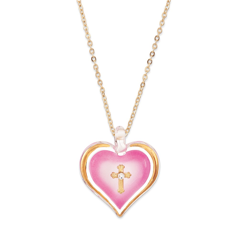 Jewelry Adviser Gifts Pink Heart w/Cross Necklace at Sears.com