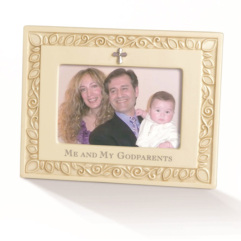 Jewelry Adviser Photo Frame Ivory Ceramic Me & Godparents 4x6 Photo Frame at Sears.com