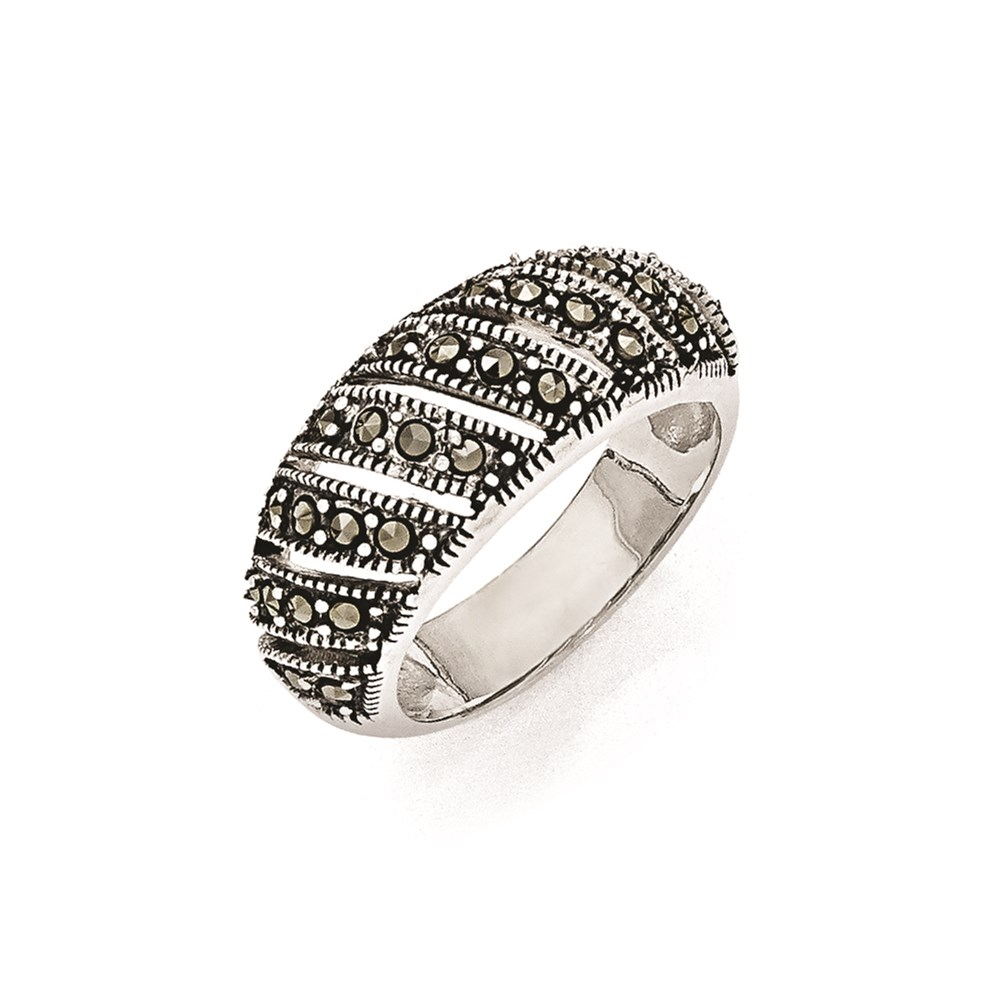 Jewelry Adviser rings Sterling Silver Marcasite Domed Ring Size 7 at Sears.com