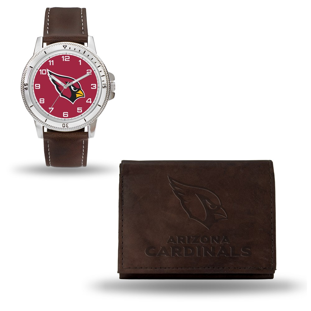 Jewelry Adviser Nfl Watches NFL Arizona Cardinals Brown Leather Watch & Wallet Set at Sears.com
