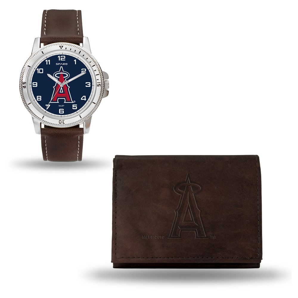 Jewelry Adviser Mlb Watches MLB Los Angeles Angels Brown Leather Watch & Wallet Set at Sears.com
