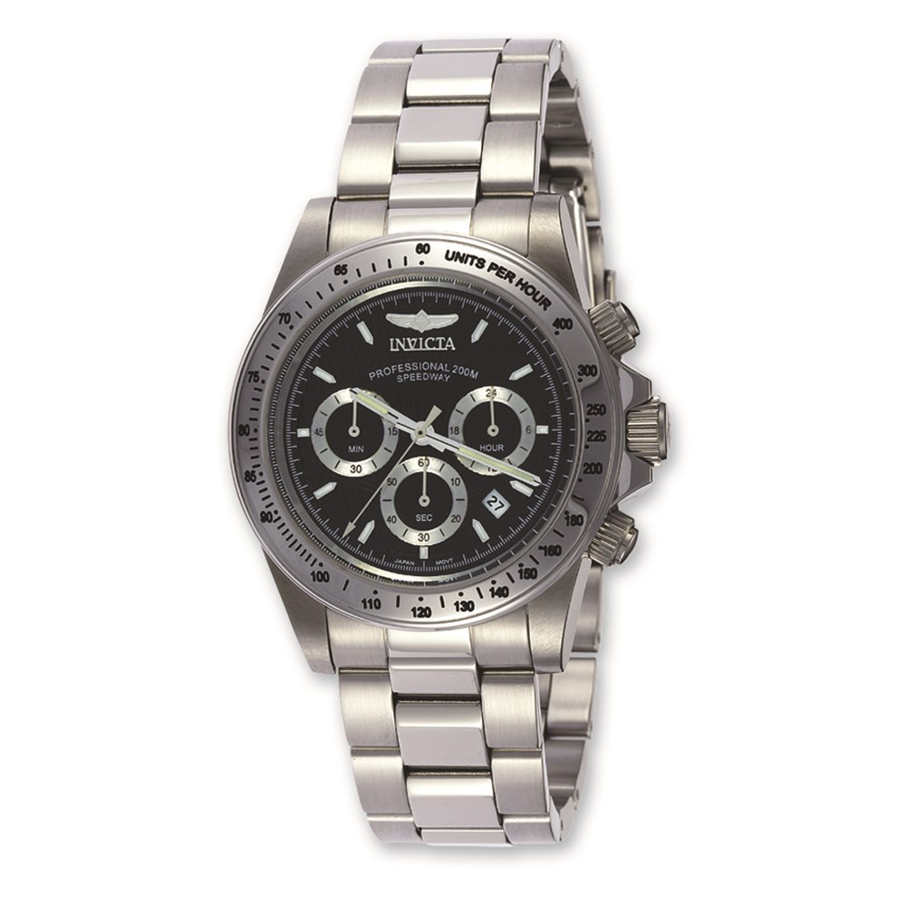 Mens Invicta Speedway Chrono Black Dial Watch