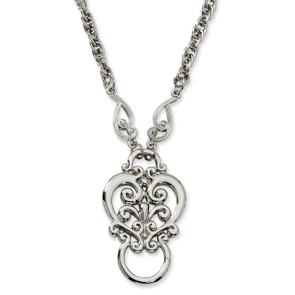 Jewelry Adviser necklaces Silver-tone Fancy Scroll Eyeglass Holder Necklace at Sears.com