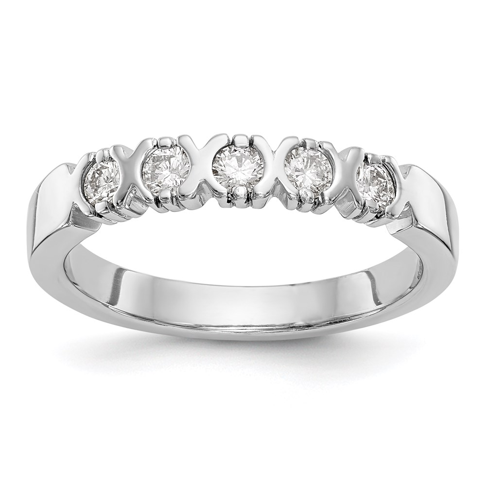 Jewelry Adviser rings 14k White Gold 5-Stone Anniversary Band Mounting at Sears.com