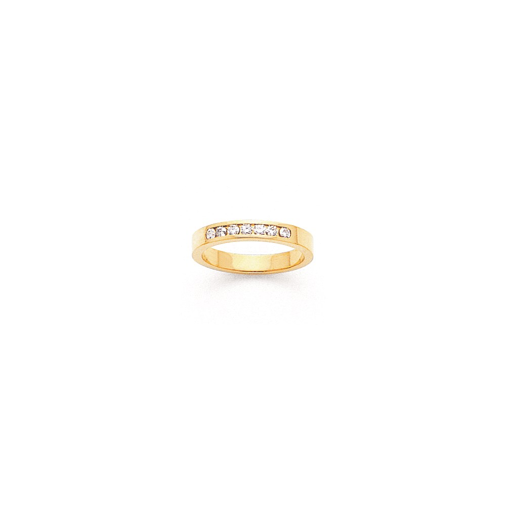 Jewelry Adviser rings 14k Flat Partial Closed 7-Stone Channel Band Mounting at Sears.com