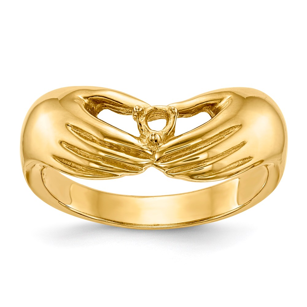 Jewelry Adviser rings 14ky 1 Stone Family Ring Mounting at Sears.com