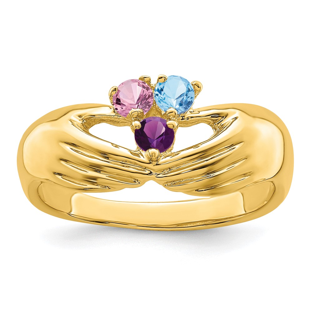 Jewelry Adviser rings 14ky 3 Stone Family Ring Mounting at Sears.com