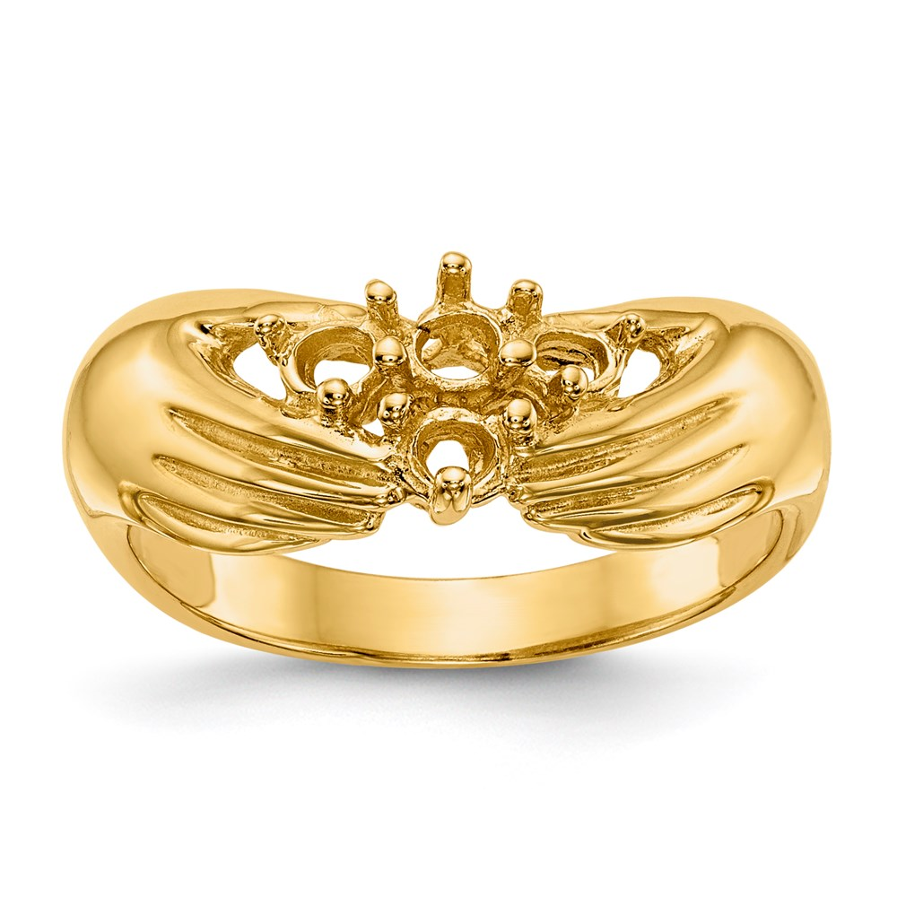 Jewelry Adviser rings 14ky 4 Stone Family Ring Mounting at Sears.com