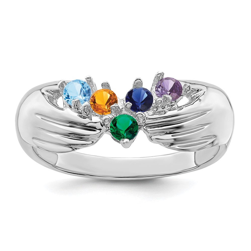 Jewelry Adviser rings 14kw 5 Stone Family Ring Mounting at Sears.com