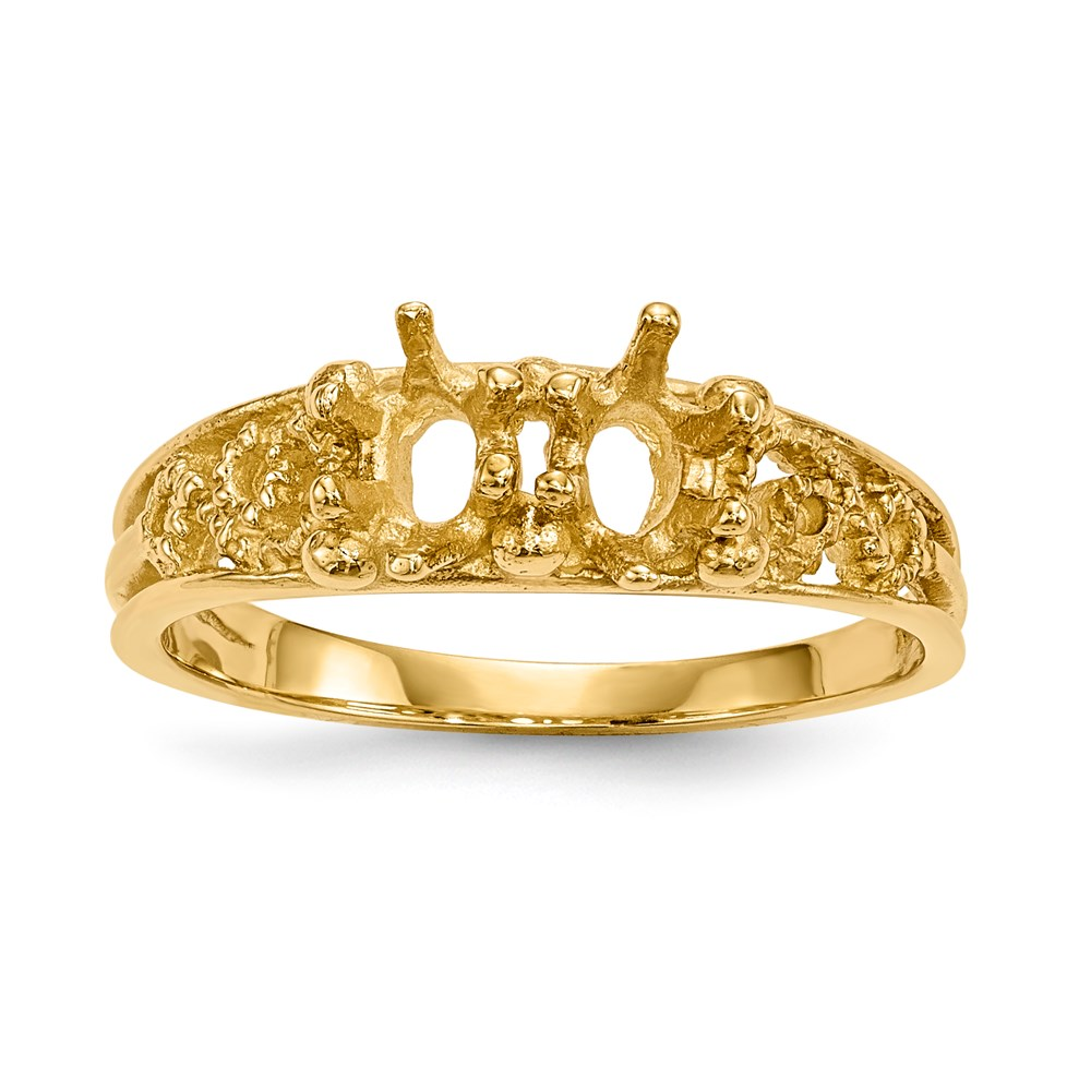 Jewelry Adviser rings 14ky 2 Stone Family Ring Mounting at Sears.com