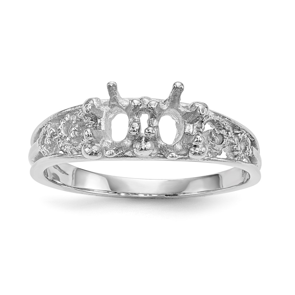 Jewelry Adviser rings 14kw 2 Stone Family Ring Mounting at Sears.com
