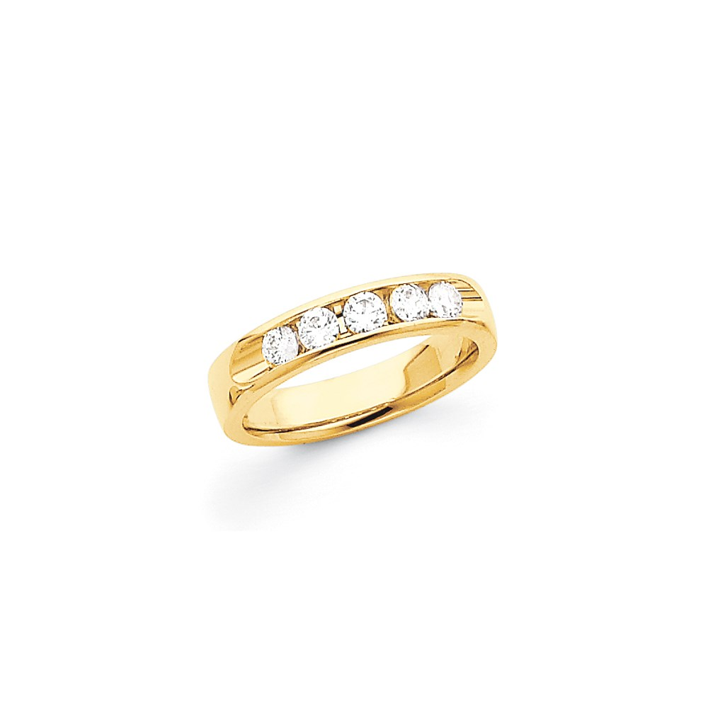 Jewelry Adviser rings 14k Channel Band Mounting at Sears.com