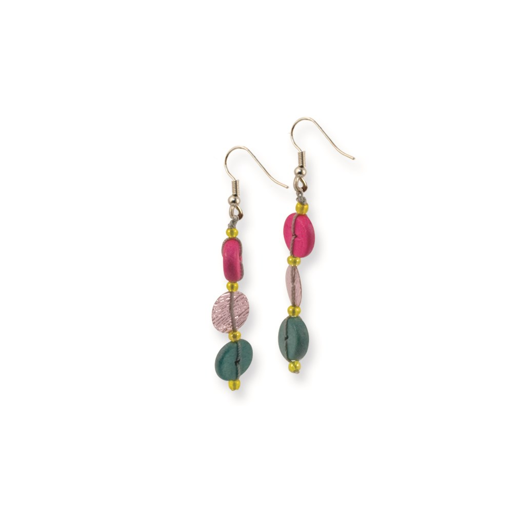Jewelry Adviser Dangle Earrings Silver-tone Multicolored Hamba Wood & Sequin 1.5in Dangle Earrings at Sears.com