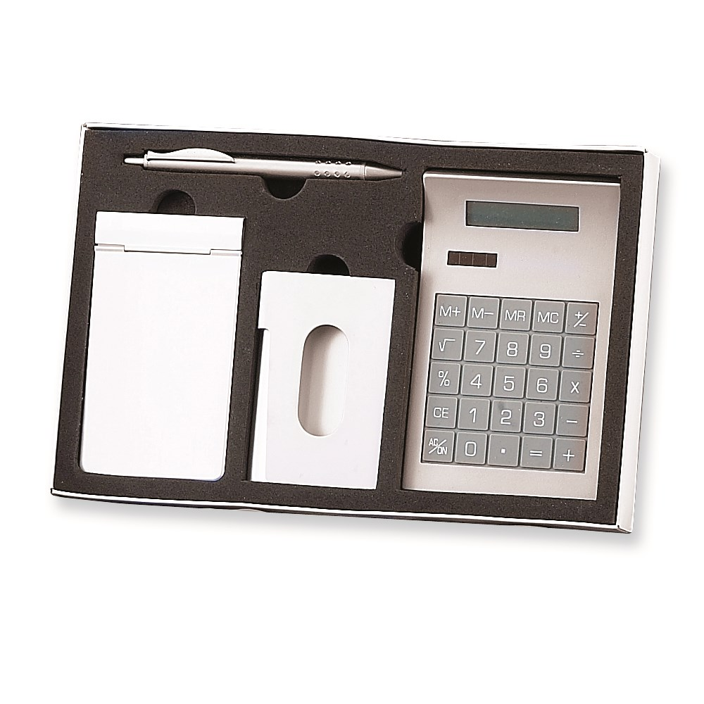 Jewelry Adviser Roller Ball Pen Memo Pad Holder, Business Card Holder, Calculator, Ball-point Pen Set at Sears.com